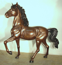 Incredable Horse Life-Size Bronze Sculpture