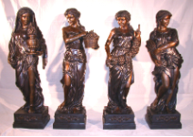Four Seasons Bronze Statues, Brown