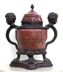 Marble Urn with 2 Boys