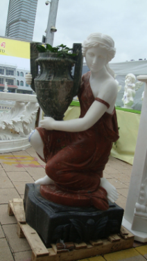 Sitting Woman with Urn Planter R or L, each