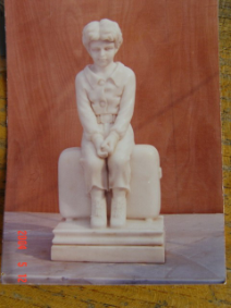 Marble Statue Boy with Suitcase