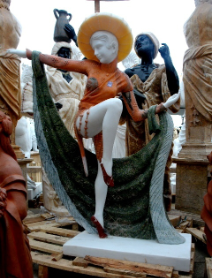Marble Statue of Dancing Beauty