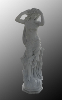Custom Marble Statue Maiden on Coffee12,0Base