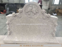 Love birds, Roses Granite Double Head Stone