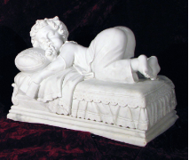 Naptime Boy Marble Statue