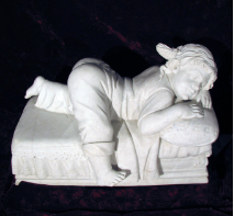 Naptime Girl Marble Statue