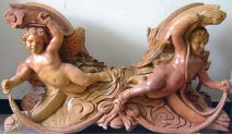 4 Cherub Marble Table Base