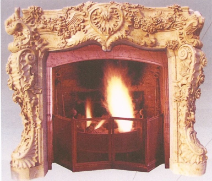 Rose Carved Marble Mantle