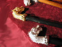 Silver / Brass Dragon Black Canes