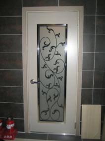 Wrought iron door panel 1