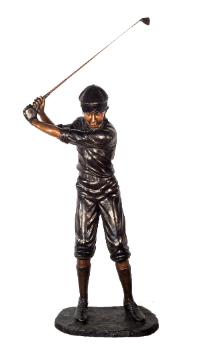 Cast Bronze Life Size Male Golfer
