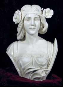 Marble Flapper Girl Bust