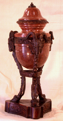 Marble Urn with Goat Legs