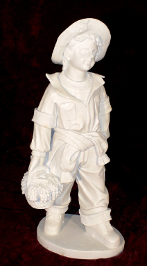 Marble Sculpture Schoolboy with Grapes