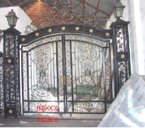 Gate with Lamps