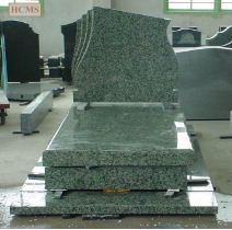 Green Granite 3 Tier Monument