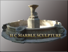 Seashell Marble Stone fountain