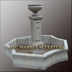 Limestone Marble Fountain with Vase On Top