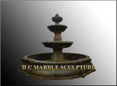 Antique Black 3 Tier Stone Fountain
