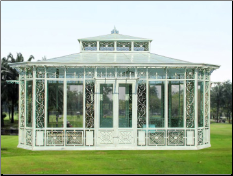* Wrought Iron Gazebo, Sunshine house