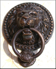Lion w/ Ring Door Knocker (SKU: HCBdkn29002)