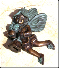 Fairy w/ Flower Door Knocker (SKU: HCBdkn29008)