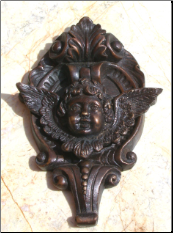 Cupid on Base Door Knocker (SKU: HCBdkn29014)