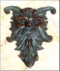 Zeus w/ Horns Door Knocker (SKU: HCBdkn29017)