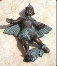 Fairy w/ Leaf Door Knocker (SKU: HCBdkn29018)