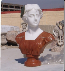 Copper Leaf Marble Bust