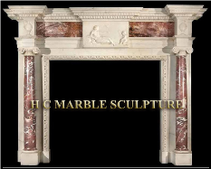Marble Mantle Mother And Son Centered