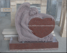 Angel Holding Heart Monument