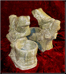 Marble Sculpture Frog Planter Grn