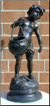 Bronze Statue Boy with Kettle