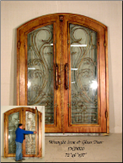 * Wrought Iron Doors