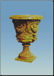 Marble Cherub Carved Planter