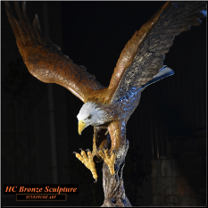 BRONZE EAGLE LARGE SCULPTURE
