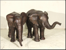 Baby Elephant Fountain Trunk up and down
