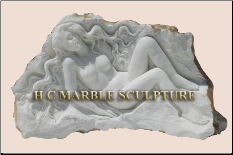 Unique Sculpture Nude Maiden carved reclining inside rock