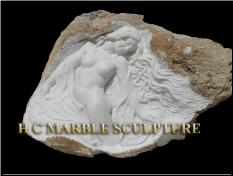Unique Sculpture Nude Maiden carved sleeping inside rock (3).