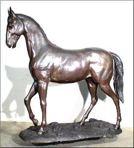 Bronze Large Standing Horse