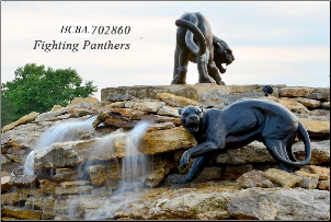 Bronze Fighting Panthers