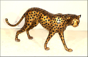 Bronze Cast Female Cheetah