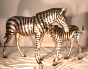Bronze Zebra Pair