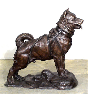 Balto Bronze Dog