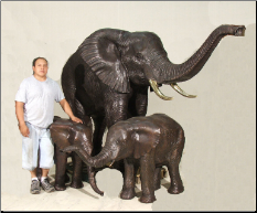 Large Elephant Family Fountains