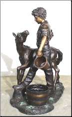 Boy with Precious Pony Bronze Sculpture