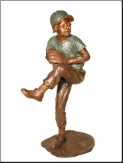 Bronze Baseball Throwing Ball Sculpture