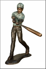 Bronze Baseball Batter Sculpture #3
