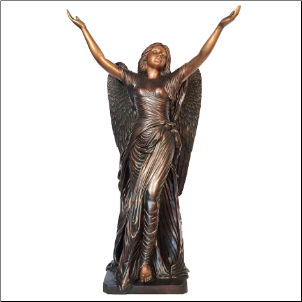 Bronze Standing Angel of Mercy (Large Brown)